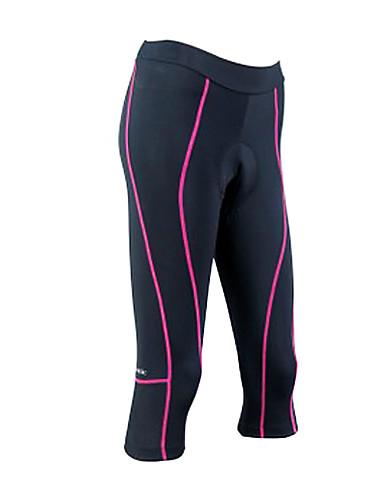 cheap Cycling Clothing-SANTIC Women's Cycling 3/4 Tights - Black Stripes Bike Bottoms Breathable Quick Dry Sports Coolmax® Mountain Bike MTB Road Bike Cycling Clothing Apparel / High Elasticity / Advanced / Advanced