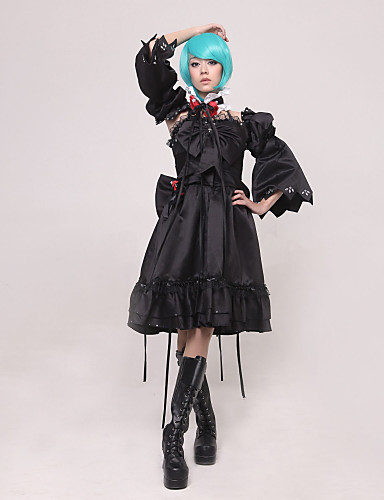 levne Cosplay a kostýmy-Inspirovaný Vocaloid Hagane Miku Video Hra Cosplay kostýmy Cosplay šaty Patchwork Vrchní deska Kostýmy