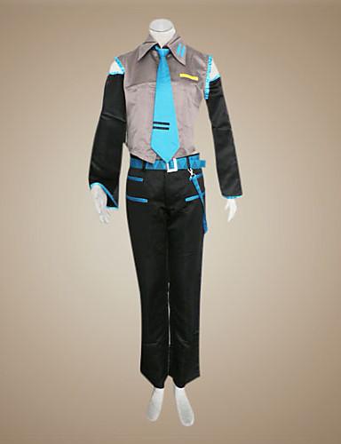 """billige Videospill Kostymer-Inspirert av Vokaloid Hatsune Miku / Mikuo video Spill  """"Cosplay-kostymer"""" Cosplay Klær Lapper Ermeløs Trøye / Bukser / Ermer Halloween-kostymer / Satin"""