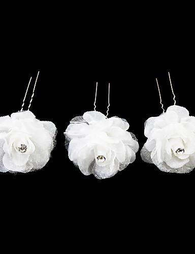 abordables Demoiselles d'Honneur-Cristal / Tissu / Satin Diadèmes / Épingle à cheveux avec 1 Mariage / Occasion spéciale / Fête / Soirée Casque / Alliage