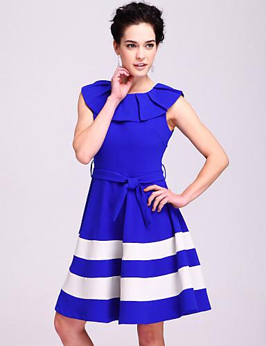 ц обжимной воротник полосатом платье (больше цветов)