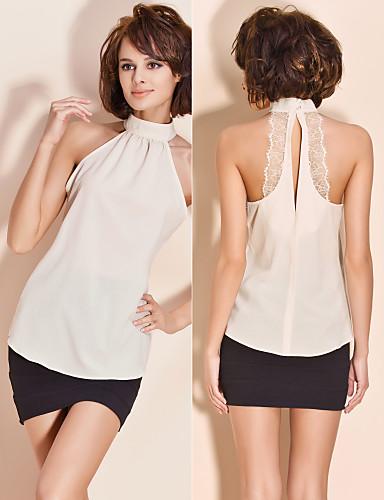 TS Halter Lace Blouse Shirt