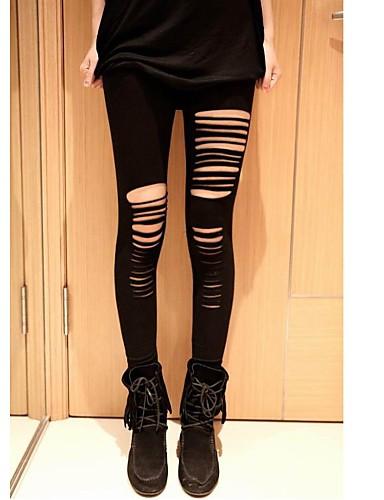 Ženy Roztřepené Legging Střední