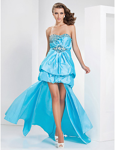 o linie iubita asimetric tafta rochie de seară