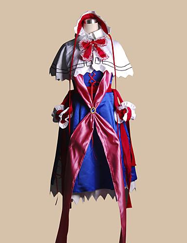 billige Cosplay og kostumer-Inspireret af Touhou Projekt Suika Ibuki video Spil Cosplay Kostumer Cosplay Kostumer Patchwork Top Kostumer
