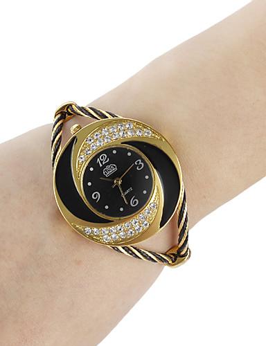 Недорогие Модные часы-Жен. Эксклюзивные часы Модные часы Часы-браслет Кварцевый Черный / Белый / Синий Аналоговый Дамы Блестящие Кольцеобразный - Красный Синий Розовый Один год Срок службы батареи / SSUO 377