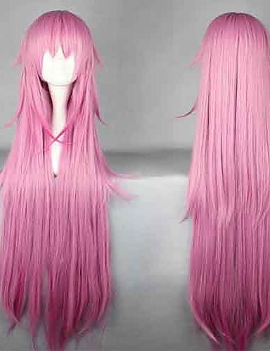 voordelige Cosplay Pruiken-K Neko Cosplaypruiken Dames 44 inch(es) Hittebestendige vezel Roze Anime