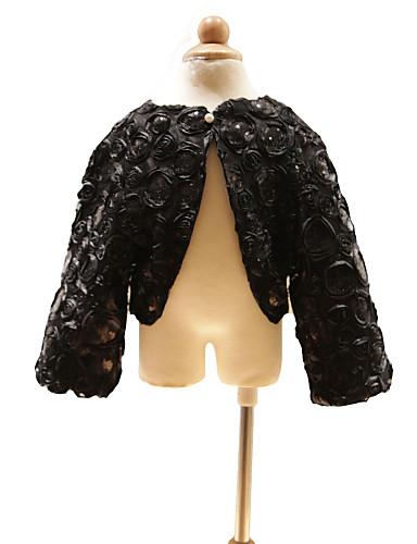 長袖 サテン 結婚式 パーティー 結婚式のラップ With ビーズ スパンコール コート/ジャケット