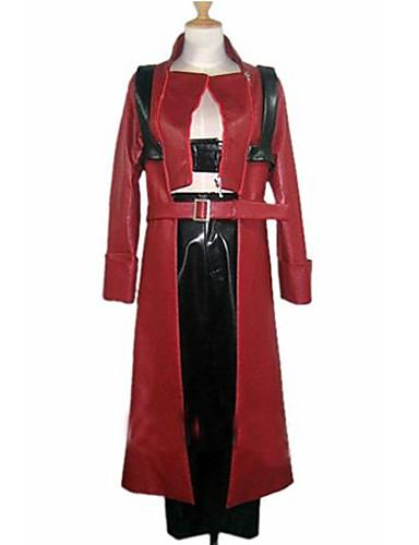 billiga TV-spelskostymer-Inspirerad av Devil May Cry Dante Video Spel Cosplay-kostymer cosplay Suits Lappverk Långärmad Kappa Byxor Kostymer
