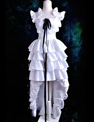 povoljno Anime kostimi-Inspirirana Chobits HZZO Anime Cosplay nošnje Japanski Cosplay Suits / Dresses Jednobojni Kratkih rukava Haljina / Ribbon Za Žene