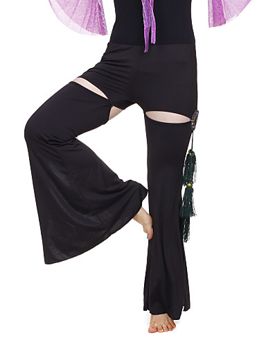 Dancewear Crystal Cotton With Beading/Tassels Performance Belly Pant For Ladies