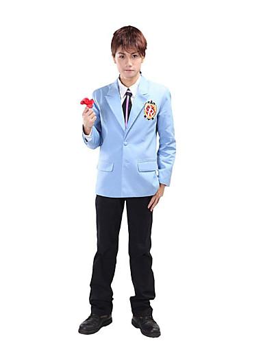 povoljno Anime kostimi-Inspirirana Visoka učilišta Haruhi Fujioka Anime Cosplay nošnje Japanski Cosplay Suits / School Uniforms Kolaž Dugih rukava Kaput / Shirt / Hlače Za Muškarci