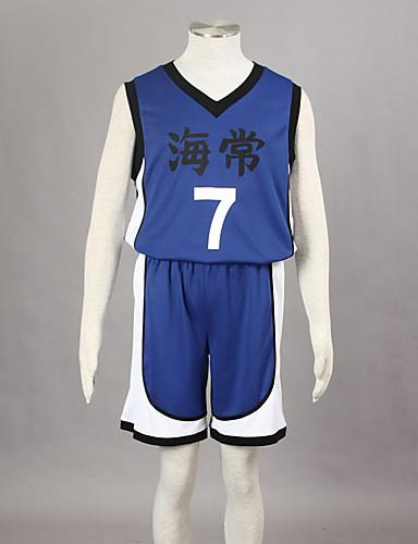 levne Cosplay a kostýmy-Inspirovaný Kuroko no Basket Kise Ryota Anime Cosplay kostýmy japonština Cosplay šaty Tisk Bez rukávů Vesta / Kraťasy Pro Pánské