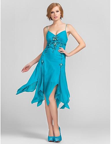 ELIETTE - שמלת קוקטיל מ- שיפון