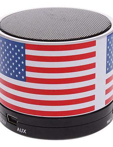 billige Bluetooth høytalere-S10 USA Flag Mini Bluetooth høyttaler med TF-port for telefon / Laptop / Tablet PC