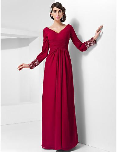 25a164a82fff Χαμηλού Κόστους Κόκκινα φορέματα χορού αποφοίτησης-Ίσια Γραμμή Λαιμόκοψη V  Μακρύ Σιφόν Επίσημο Βραδινό Φόρεμα · Ίσια Γραμμή Λαιμόκοψη V Μακρύ Σιφόν  Επίσημο ...