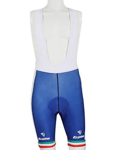 cheap Cycling Clothing-Malciklo Men's Women's Unisex Cycling Bib Shorts - Blue / White Italy Champion National Flag Bike Bib Shorts Bottoms Windproof Quick Dry Waterproof Zipper Sports Polyester Elastane Mountain Bike MTB