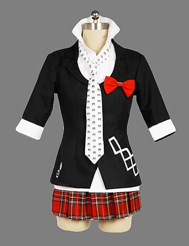 abordables Disfraces de Videojuegos-Inspirado por Dangan Ronpa Junko Enoshima Vídeo Juego Disfraces de cosplay Trajes Cosplay / Uniformes Escolares Retazos Manga Corta Chaqueta Camisas Falda Disfraces