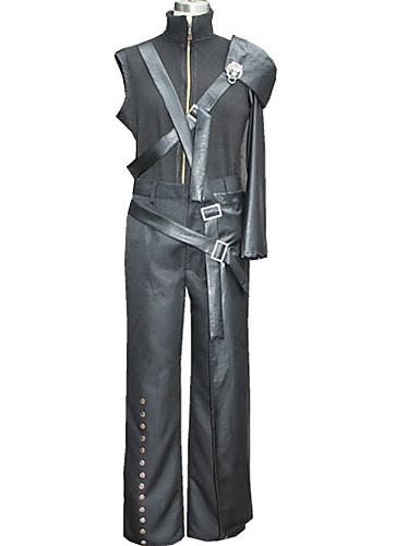 voordelige Gaming kostuums-geinspireerd door Final Fantasy Cloud Strife Video Spel Cosplaykostuums Cosplay Kostuums Patchwork Jas Broeken Taille Accessoire kostuums