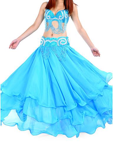Danza Del Ventre Gonna Per Donna Addestramento Chiffon Naturale - Sala Da Ballo #00861644