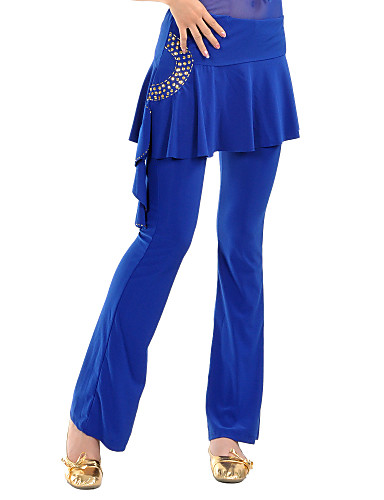 Belly Dance Bottoms Women's Training Crystal Cotton Draping Pants