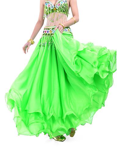 Danza Del Ventre Gonna Per Donna Addestramento Chiffon Drappeggio - A Balze Naturale Gonna - Sala Da Ballo #00861640 Materiali Di Alta Qualità