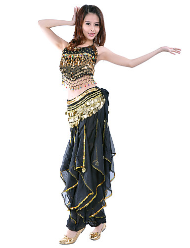 4927bfbc07 Belly Dance Outfits Women s Training   Performance Chiffon Beading   Sequin    Coin Sleeveless Natural Top   Pants