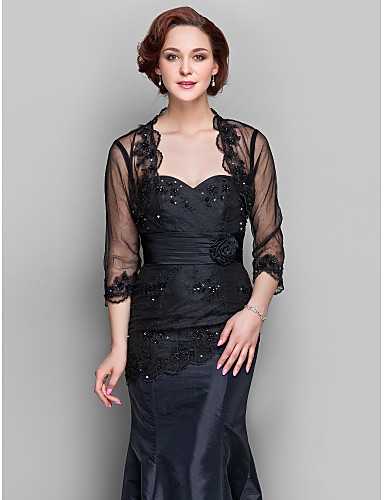 b1d5a00c14e Lace   Tulle Wedding   Party Evening Women s Wrap With Beading Shrugs