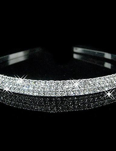 abordables Tiare-Cristal / Strass / Tissu Diadèmes / Bandeaux avec 1 Mariage / Fête / Soirée Casque