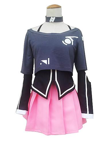 levne Cosplay a kostýmy-Inspirovaný Vocaloid IA Video Hra Cosplay kostýmy Cosplay šaty / Šaty Vzor Dlouhý rukáv Kabát Sukně Límeček Kostýmy