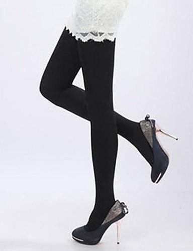Women's Velvet Medium Pantyhose-Solid