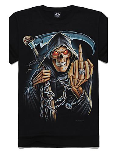 m-imperiu secera 3d craniu de bumbac t-shirt