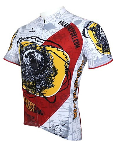 cheap Cycling Clothing-ILPALADINO Men's Short Sleeve Cycling Jersey Cartoon Bike Jersey Top Breathable Quick Dry Ultraviolet Resistant Sports 100% Polyester Mountain Bike MTB Road Bike Cycling Clothing Apparel