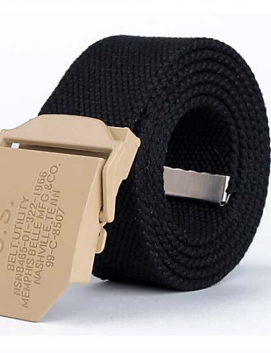 Men's Casual Wide Belt - Solid Colored