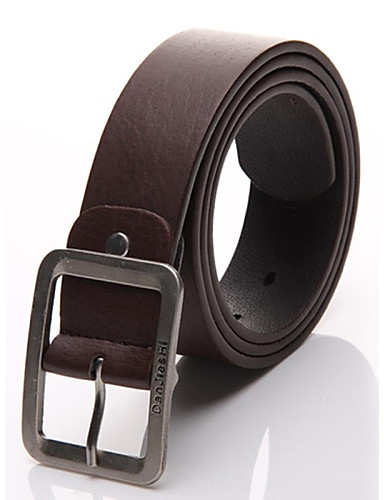 Men's Work Active Basic Leather Buckle - Solid Colored