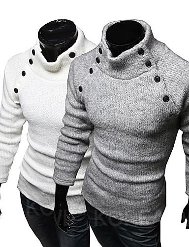 77a9a29db9 Fulin férfi magas nyakú egyszínű hosszú ujjú pulóver 1867759 2019 ...