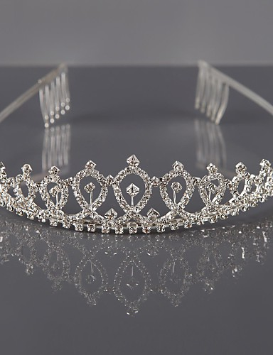 cheap Wedding Accessories-Alloy Tiaras / Headwear with Floral 1pc Wedding / Special Occasion Headpiece