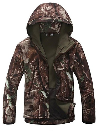 ad40d8d0cfac2 Men's Camo / Camouflage Camouflage Hunting Jacket Outdoor Thermal / Warm  Windproof Breathable Rain Waterproof Spring Fall Winter Fleece Jacket  Hoodie ...
