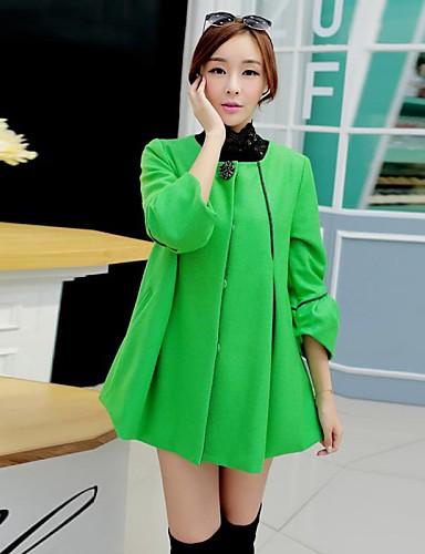 voordelige Damesjassen & trenchcoats-yalun®hot koop! van vrouwen plus size koreaanse cape jas