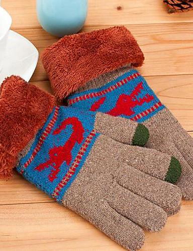 moda bavuri duble calde bărbați Tricotaje pentru mănuși tactil color aleatorii