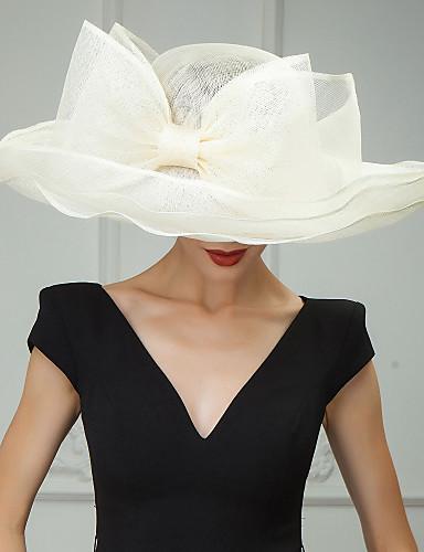 abordables Déstockage Mariages & Soirées-Lin Kentucky Derby Hat / Chapeaux / Coiffure avec Fleur 1pc Mariage / Occasion spéciale / Décontracté Casque