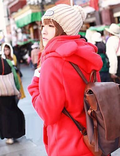 Stilul urs drăguț capișon roșu strat cald
