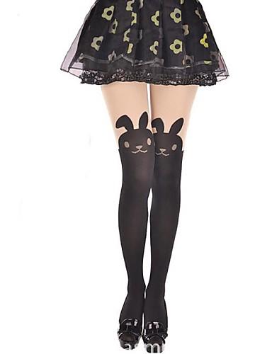 voordelige Kousen-Prinses Dames Sweet Lolita Sokken en kousen Dij Hoge Sokken dier Konijn Fluweel Lolita-accessoires / Hoge Elasticiteit