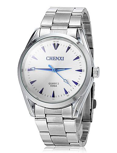 JUBAOLI Herrn Quartz Armbanduhr Armbanduhren für den Alltag Edelstahl Band Charme Kleideruhr Silber