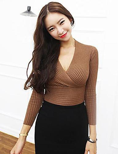 Damen Langarm Pullover-Solide