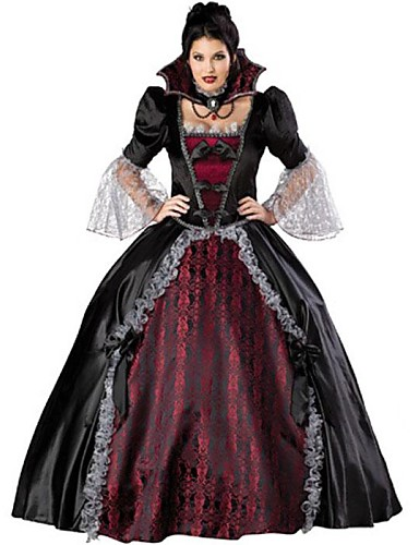 Vampire Cosplay Costume Party Costume Women s Christmas Halloween Festival    Holiday Lace Satin Outfits Black   Red Vintage d8152bd98254