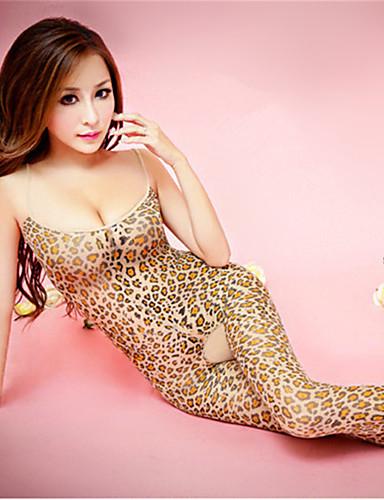 Grandes Tailles Body Ultra Sexy Vêtement de nuit Femme - Imprimé, Léopard