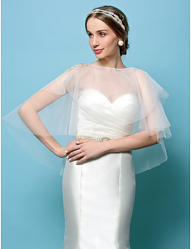 Tulle Wedding Party Evening Wedding  Wraps Capelets