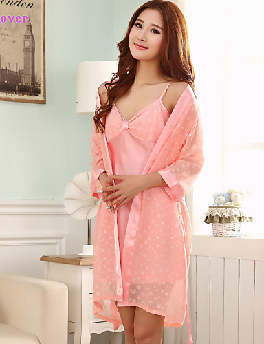 nuisette culottes robe de chambre satin soie ultra sexy costumes v tement de nuit femme. Black Bedroom Furniture Sets. Home Design Ideas