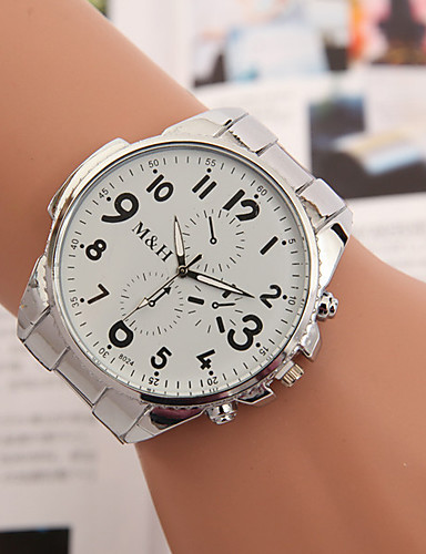 yoonheel Damen Armbanduhr Armbanduhren für den Alltag Metall Band Charme / Modisch Silber / Ein Jahr / SODA AG4